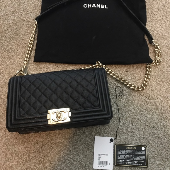 9b7a4d966f312d CHANEL Bags | Old Medium Boy Bag Caviar Cruise 2017 Champagne | Poshmark